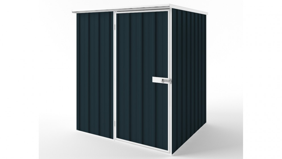 EasyShed S1515 Flat Roof Garden Shed - Mountain Blue