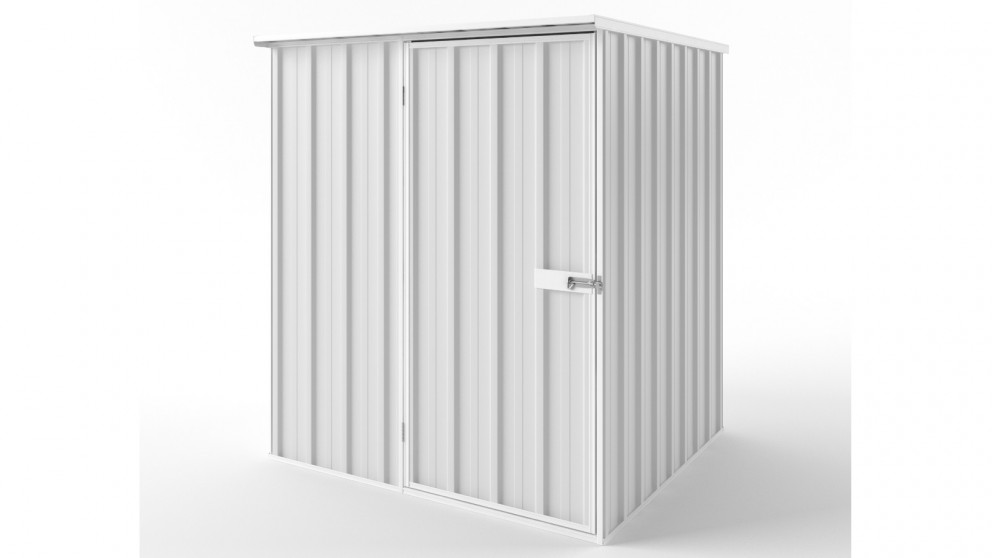 EasyShed S1515 Flat Roof Garden Shed - Off White