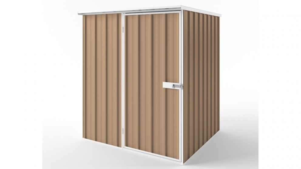 EasyShed S1515 Flat Roof Garden Shed - Pale Terracotta