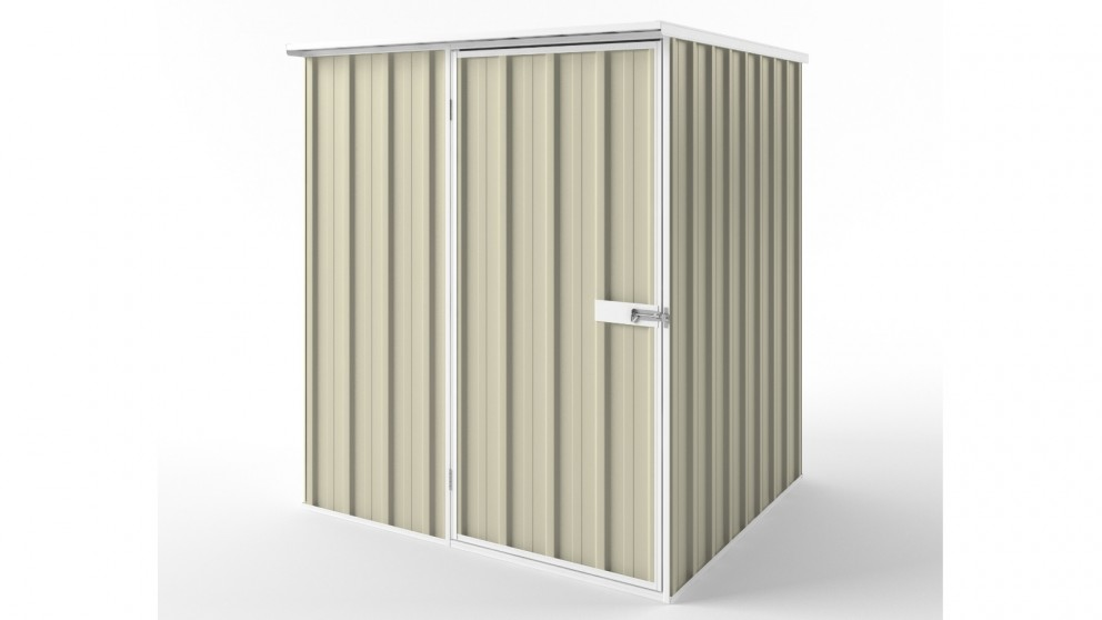 EasyShed S1515 Flat Roof Garden Shed - Smooth Cream
