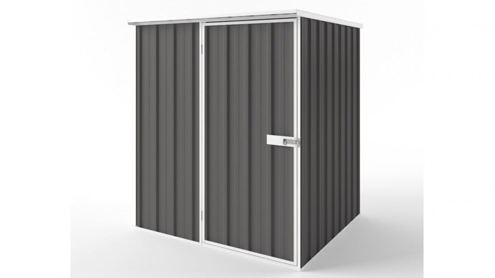 EasyShed S1515 Flat Roof Garden Shed - Slate Grey