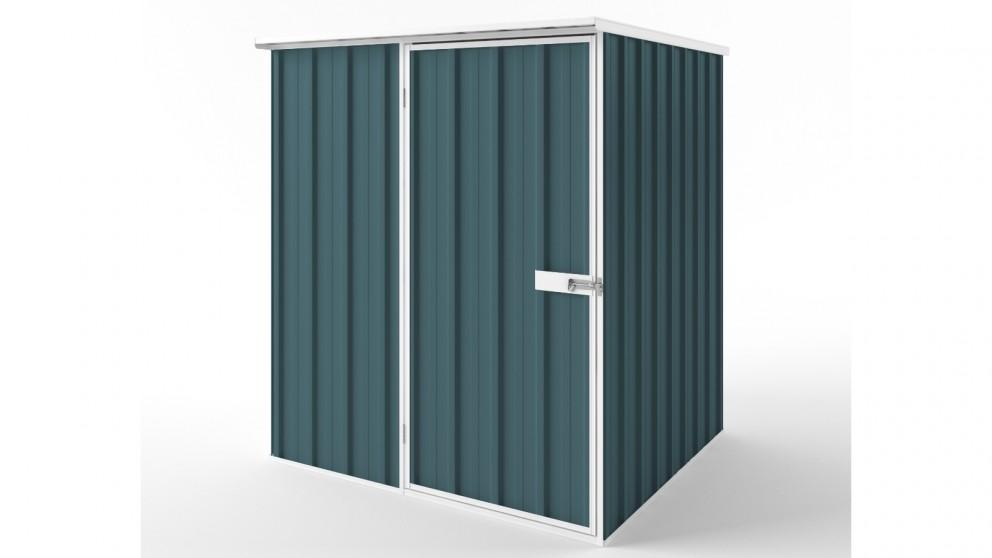 EasyShed S1515 Flat Roof Garden Shed - Torres Blue