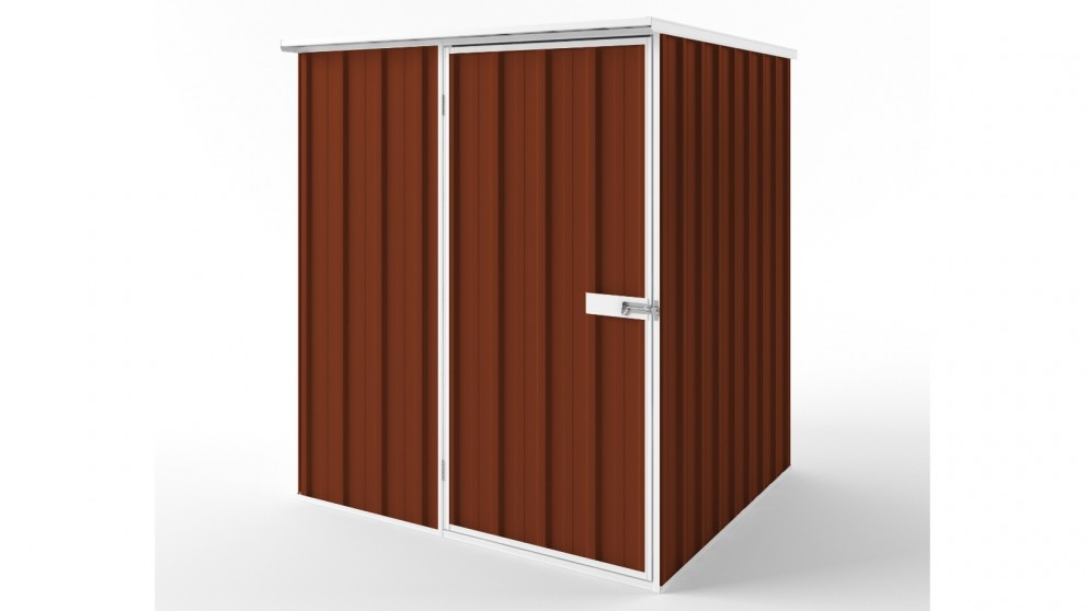 EasyShed S1515 Flat Roof Garden Shed - Tuscan Red