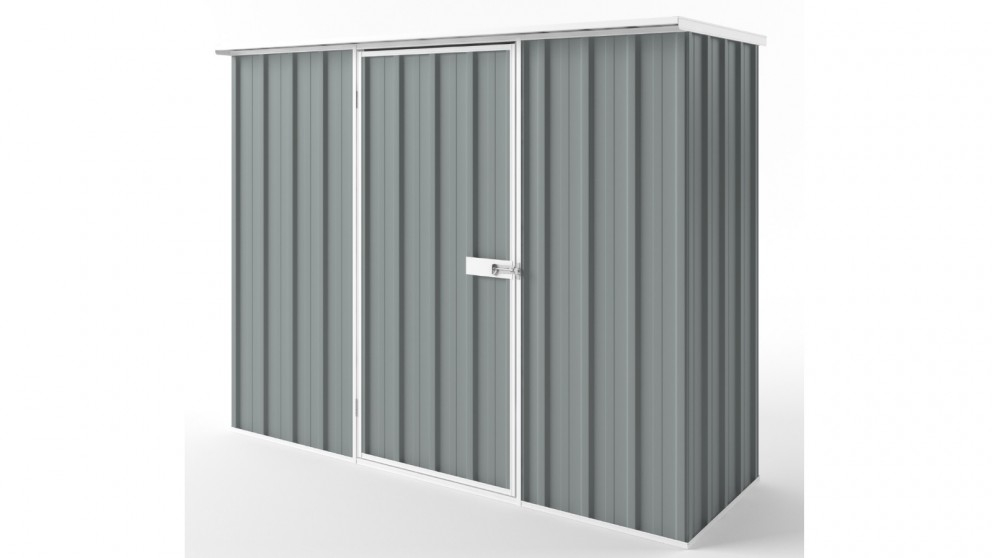 EasyShed S2308 Flat Roof Garden Shed - Armour Grey