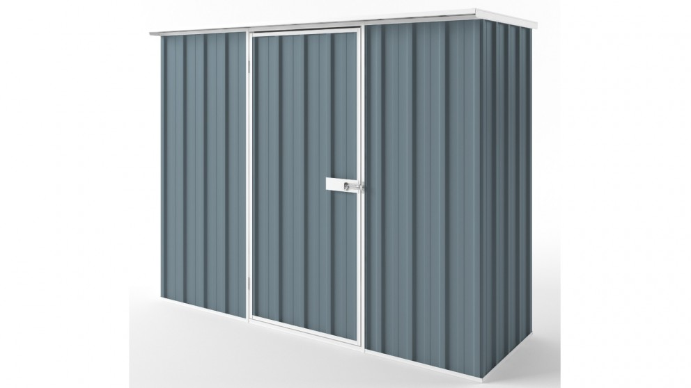 EasyShed S2308 Flat Roof Garden Shed - Blue Horizon