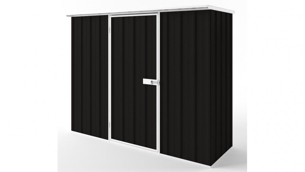 EasyShed S2308 Flat Roof Garden Shed - Ebony