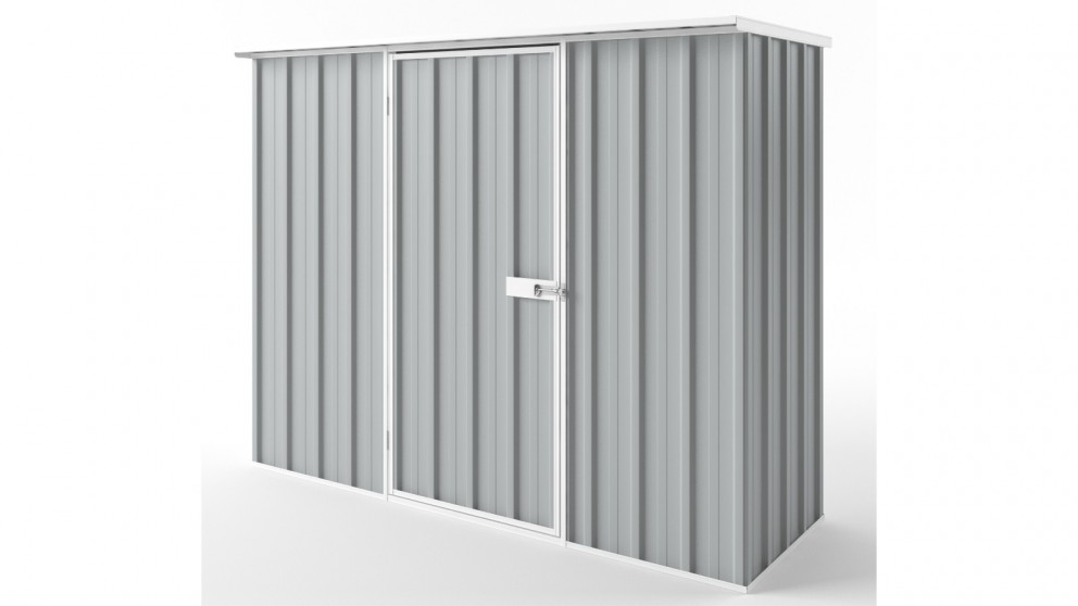 EasyShed S2308 Flat Roof Garden Shed - Gull Grey