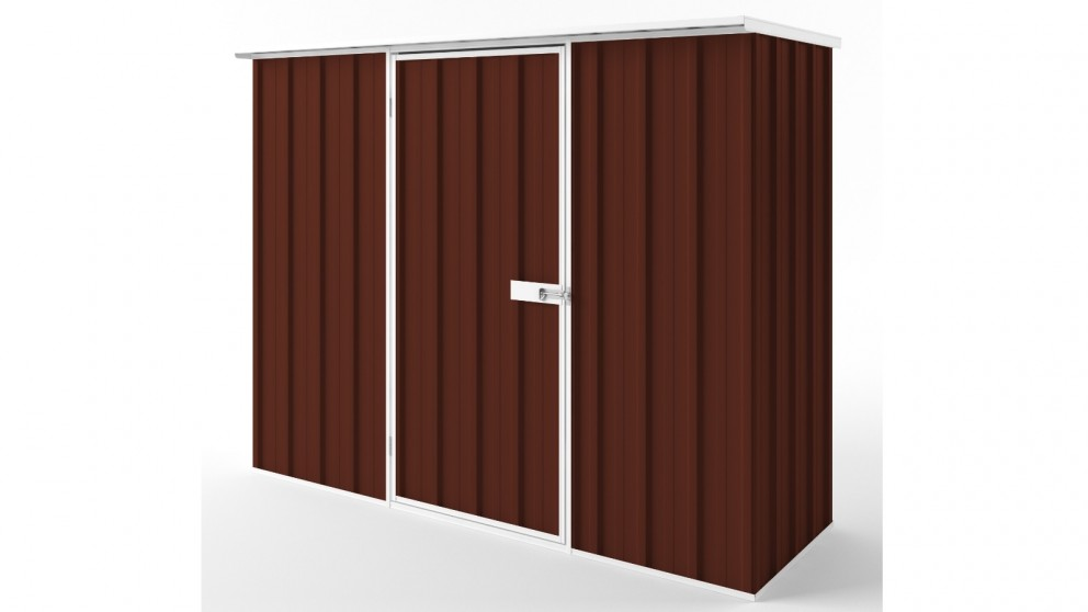 EasyShed S2308 Flat Roof Garden Shed - Heritage Red