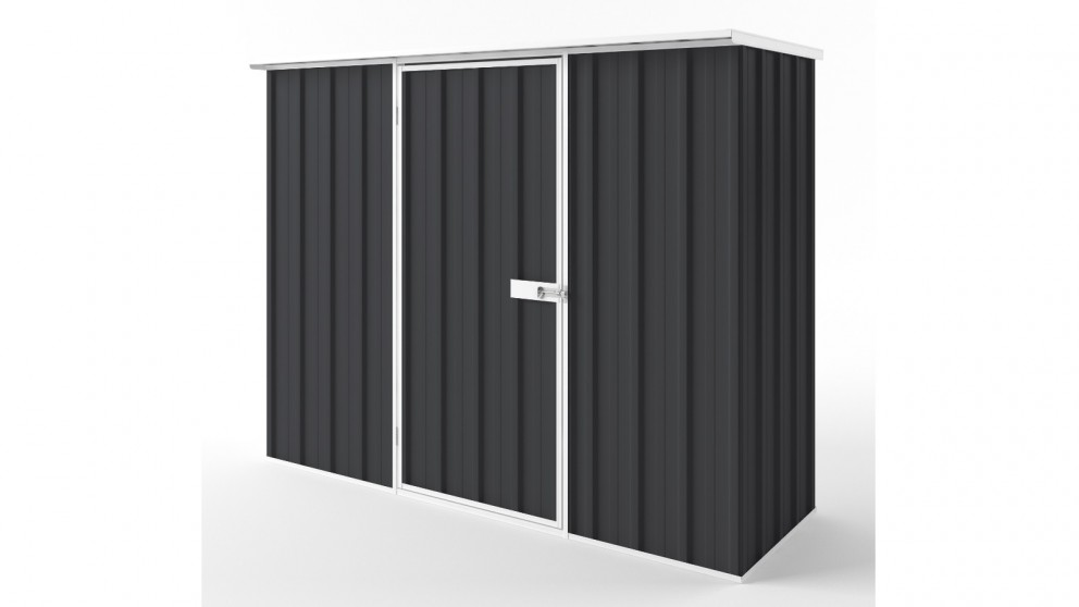 EasyShed S2308 Flat Roof Garden Shed - Iron Grey