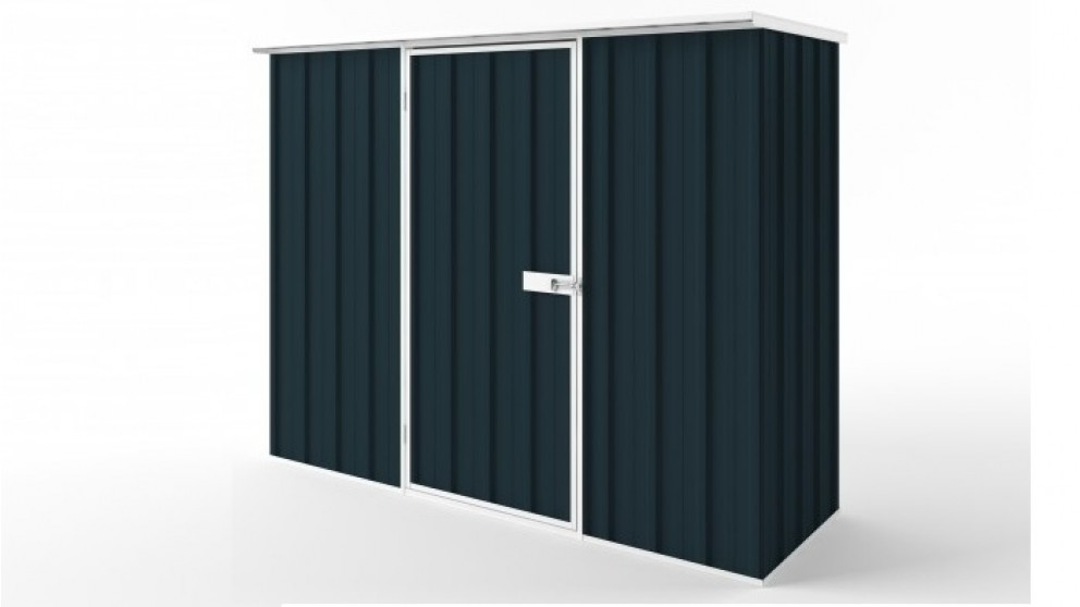 EasyShed S2308 Flat Roof Garden Shed - Mountain Blue