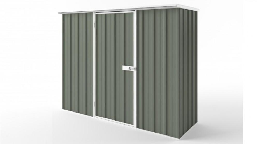 EasyShed S2308 Flat Roof Garden Shed - Mist Green