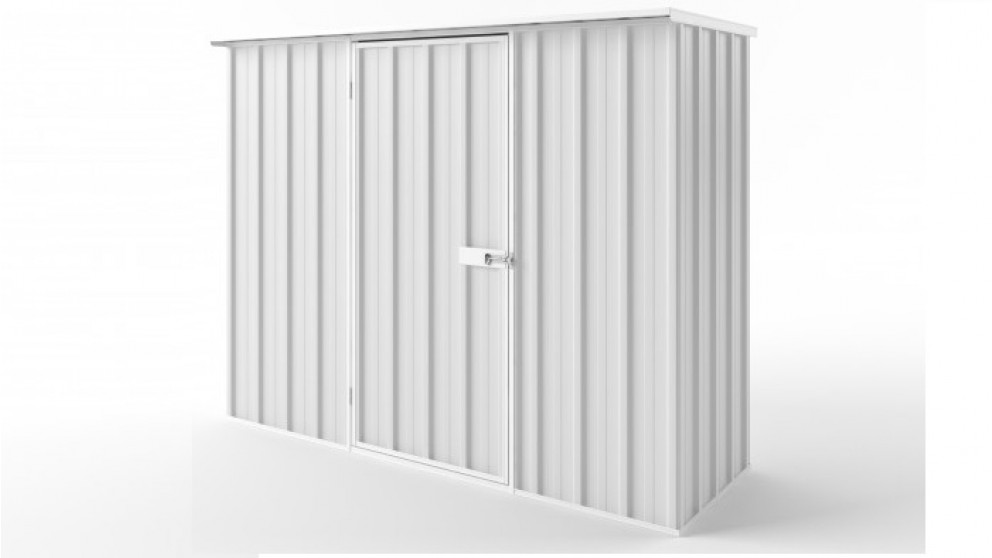 EasyShed S2308 Flat Roof Garden Shed - Off White