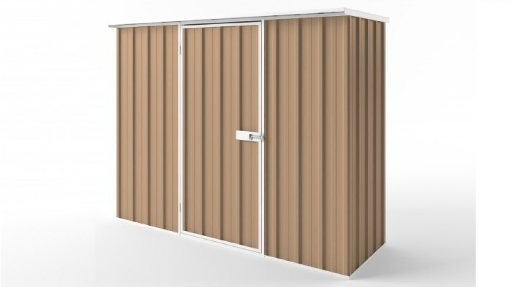 EasyShed S2308 Flat Roof Garden Shed - Pale Terracotta