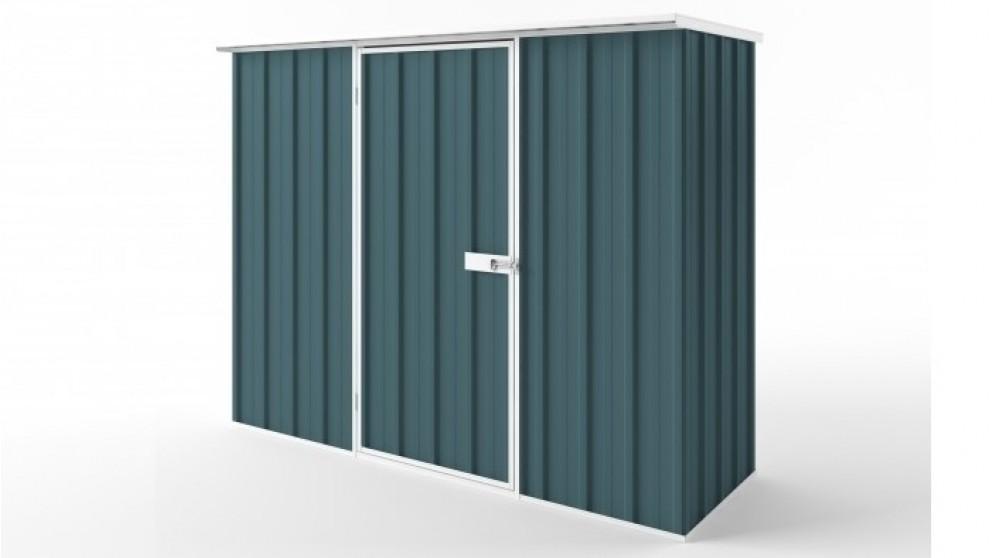 EasyShed S2308 Flat Roof Garden Shed - Torres Blue
