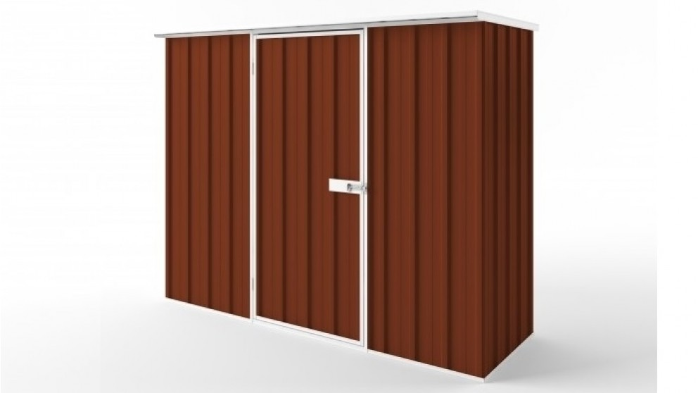 EasyShed S2308 Flat Roof Garden Shed - Tuscan Red