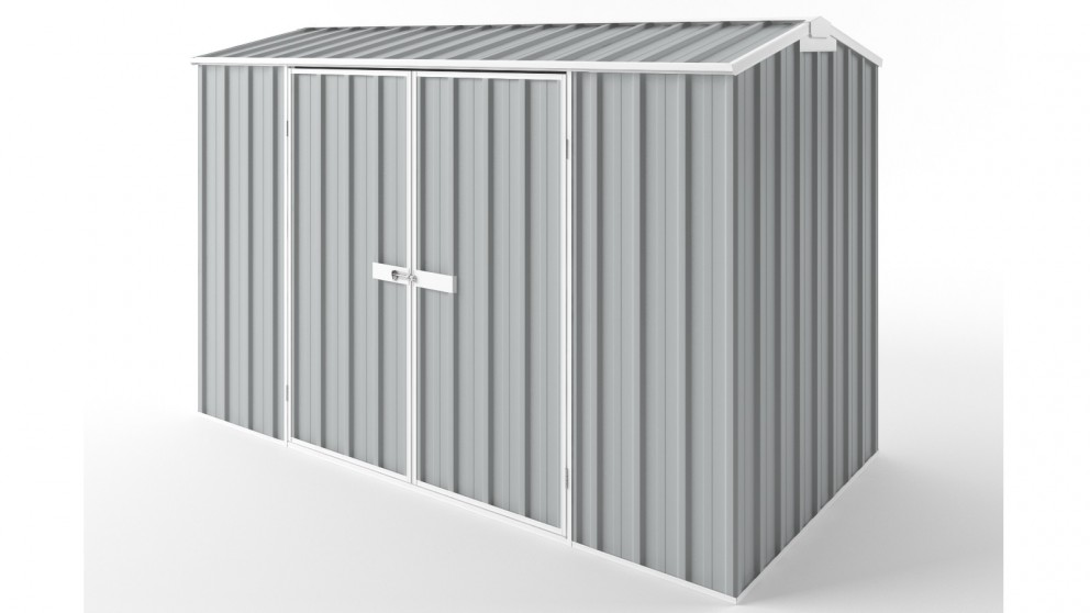 EasyShed D3015 Gable Roof Garden Shed - Gull Grey