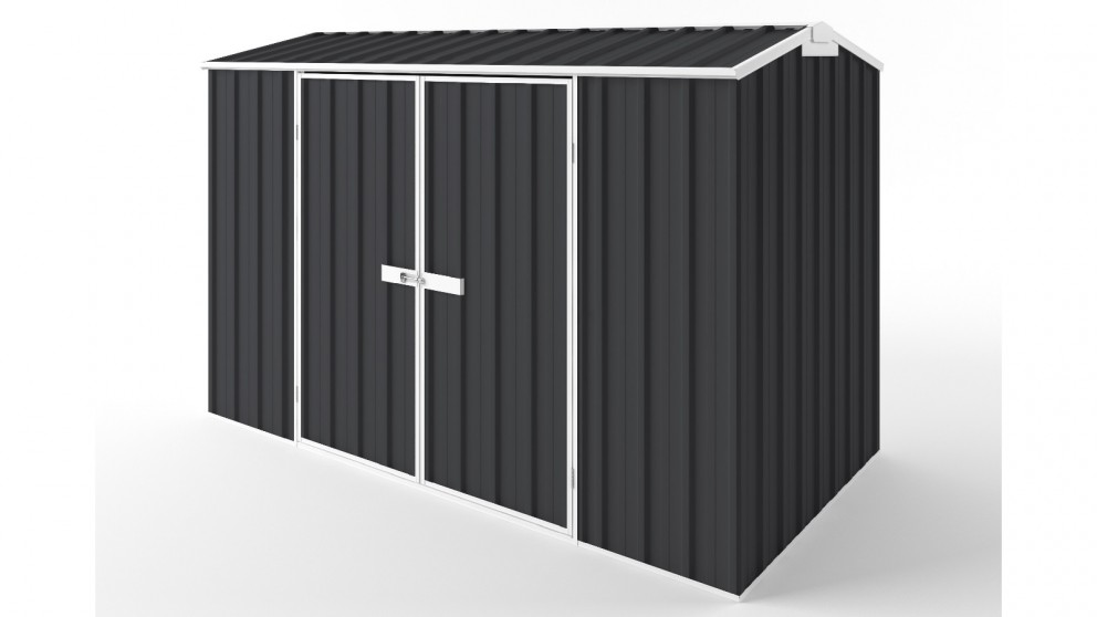 EasyShed D3015 Gable Roof Garden Shed - Iron Grey