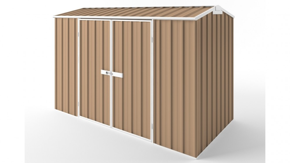 EasyShed D3015 Gable Roof Garden Shed - Pale Terracotta
