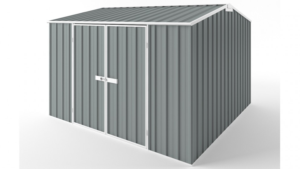 EasyShed D3030 Gable Roof Garden Shed - Armour Grey