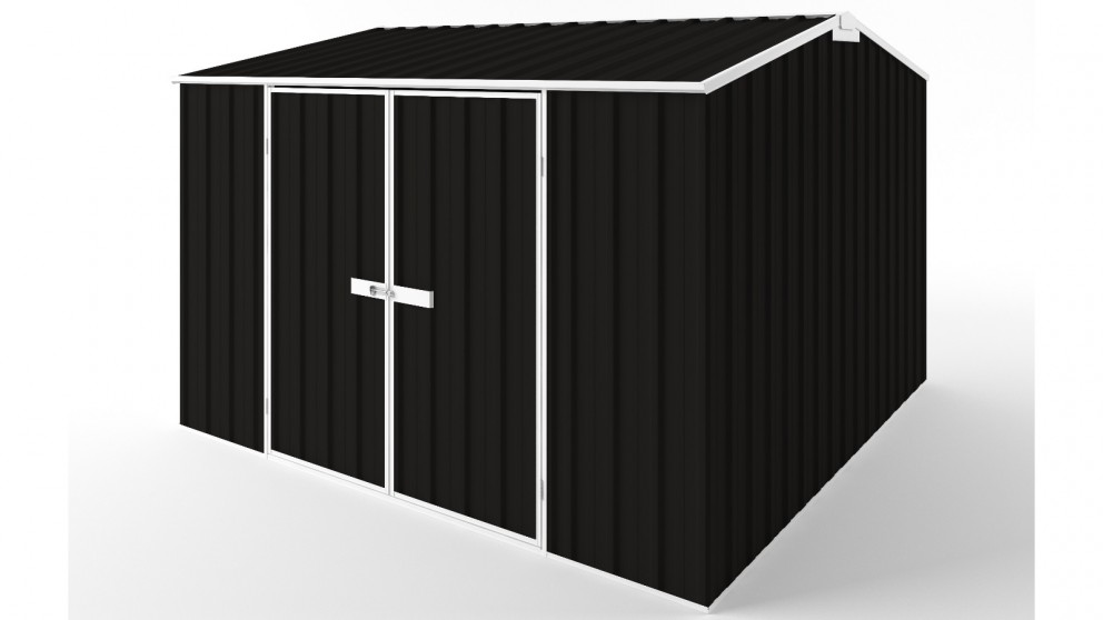 EasyShed D3030 Gable Roof Garden Shed - Ebony