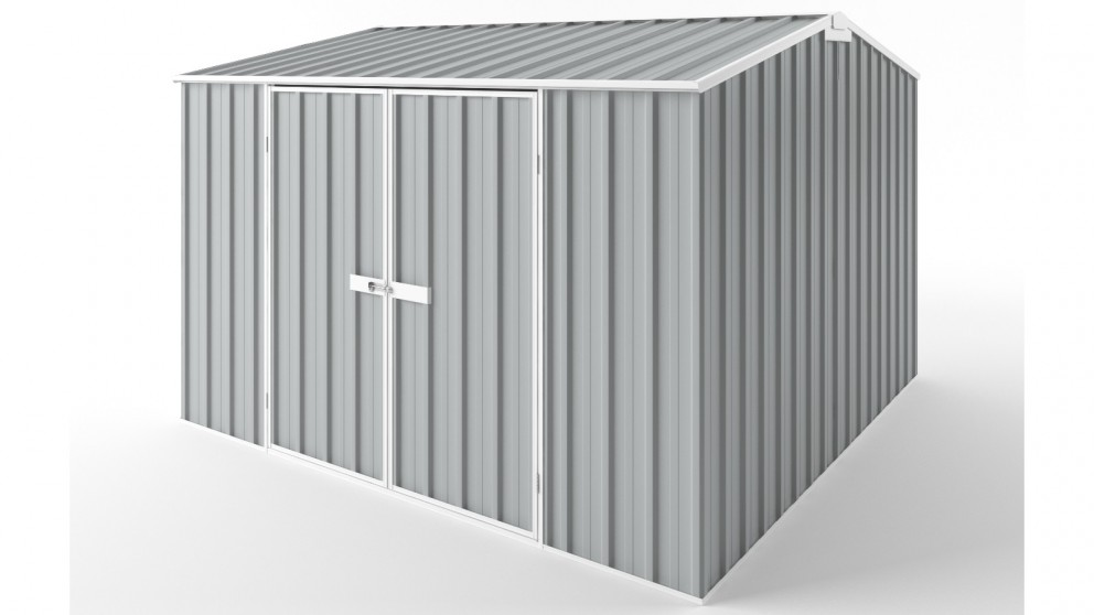 EasyShed D3030 Gable Roof Garden Shed - Gull Grey