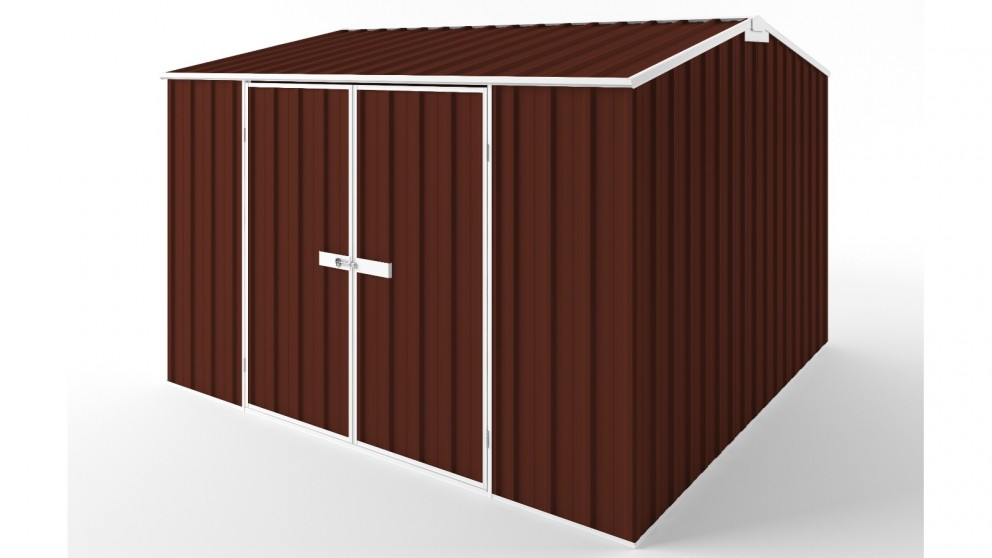 EasyShed D3030 Gable Roof Garden Shed - Heritage Red