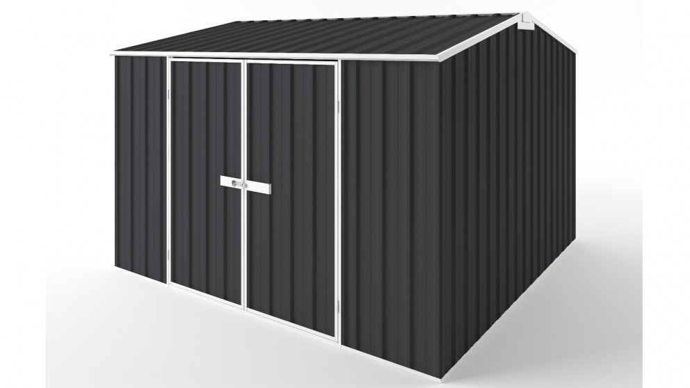 EasyShed D3030 Gable Roof Garden Shed - Iron Grey