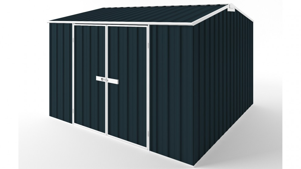 EasyShed D3030 Gable Roof Garden Shed - Mountain Blue