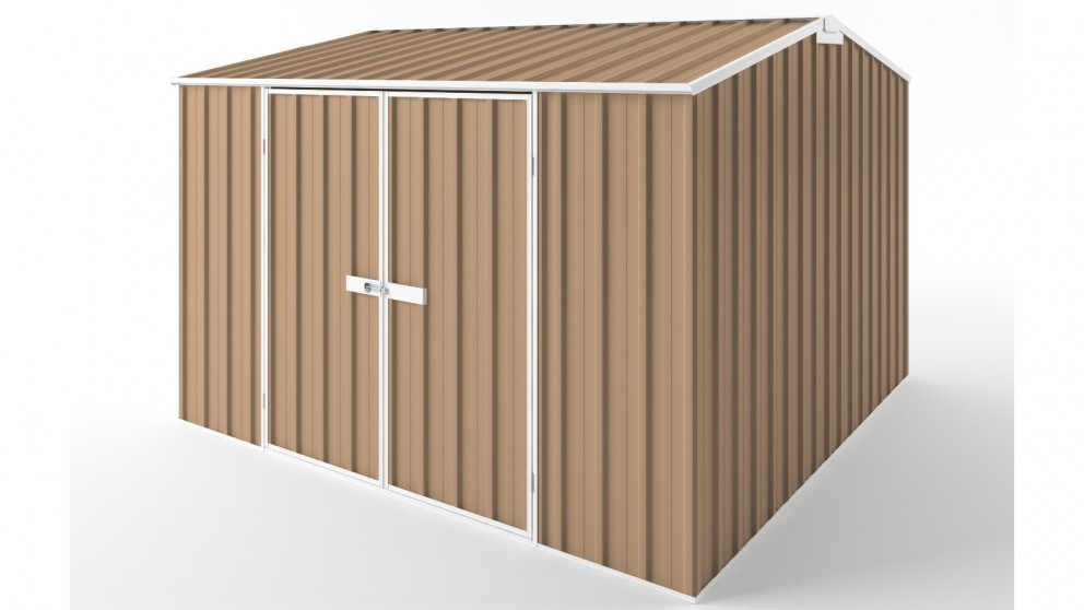 EasyShed D3030 Gable Roof Garden Shed - Pale Terracotta