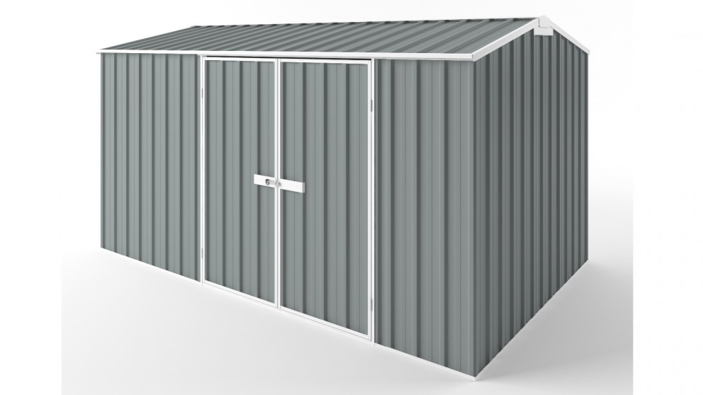 EasyShed D3823 Gable Roof Garden Shed - Armour Grey