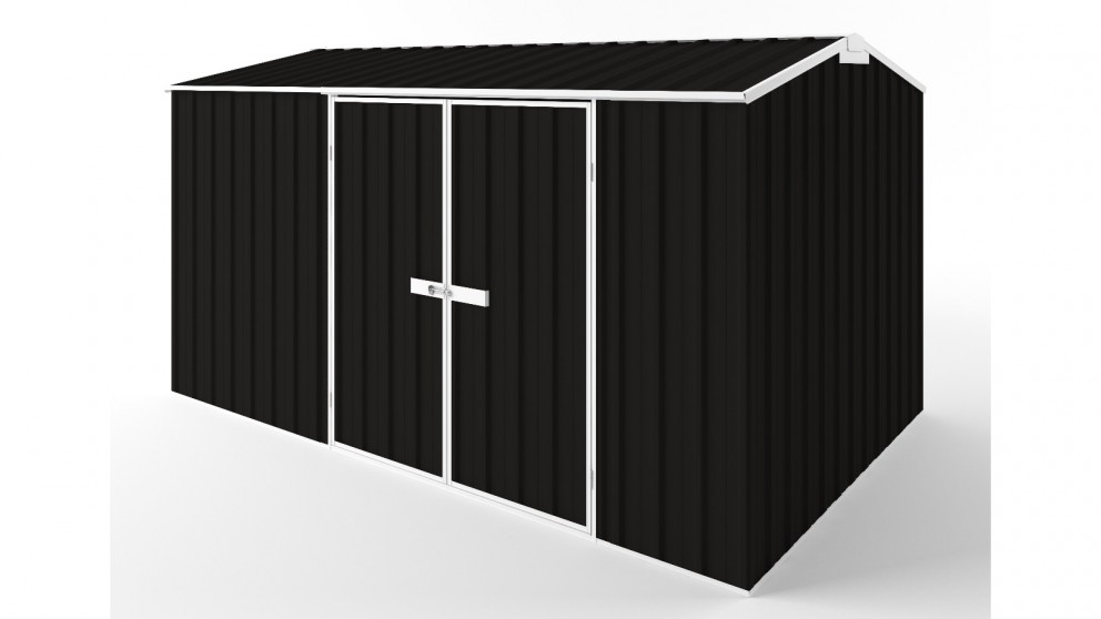 EasyShed D3823 Gable Roof Garden Shed - Ebony