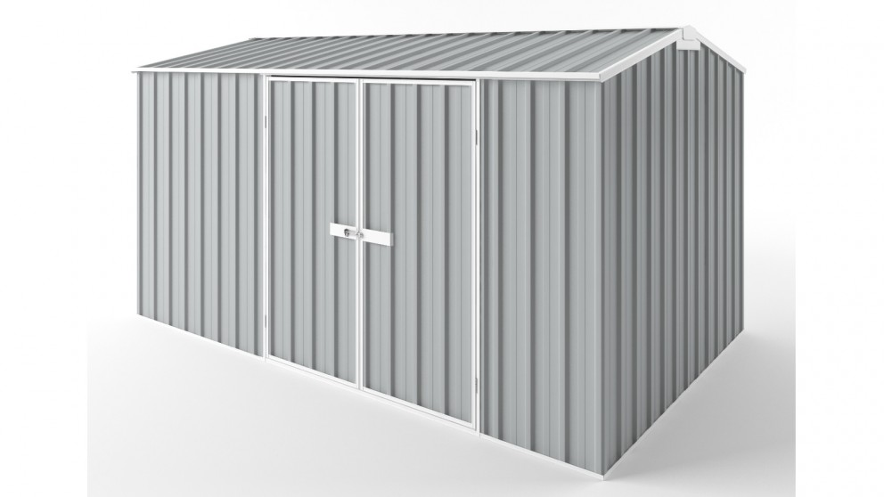 EasyShed D3823 Gable Roof Garden Shed - Gull Grey