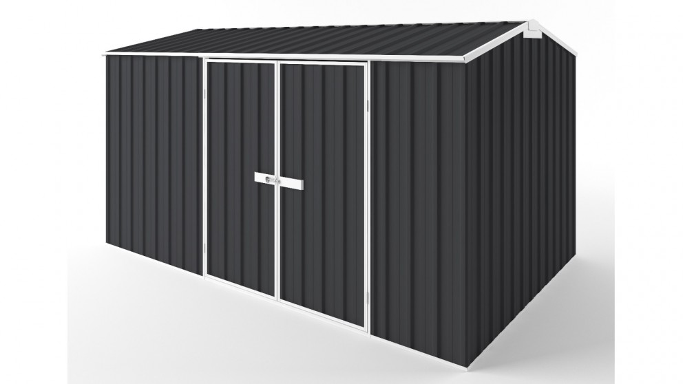 EasyShed D3823 Gable Roof Garden Shed - Iron Grey