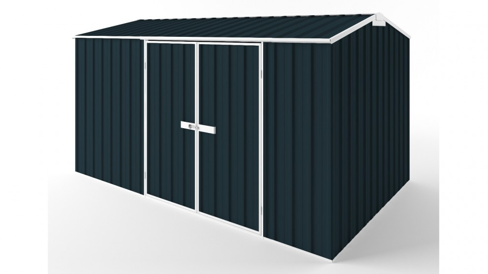 EasyShed D3823 Gable Roof Garden Shed - Mountain Blue