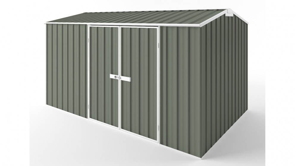 EasyShed D3823 Gable Roof Garden Shed - Mist Green
