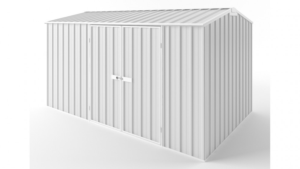 EasyShed D3823 Gable Roof Garden Shed - Off White