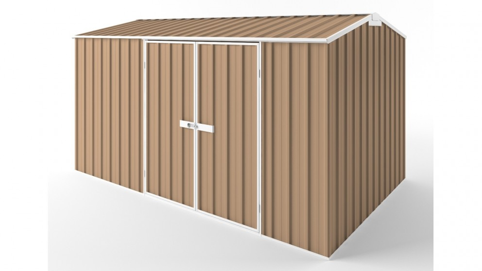 EasyShed D3823 Gable Roof Garden Shed - Pale Terracotta