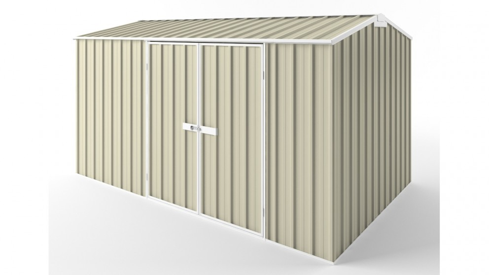 EasyShed D3823 Gable Roof Garden Shed - Smooth Cream