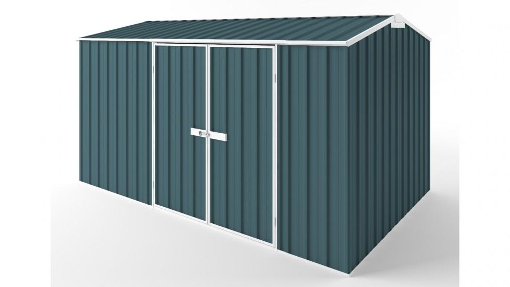 EasyShed D3823 Gable Roof Garden Shed - Torres Blue