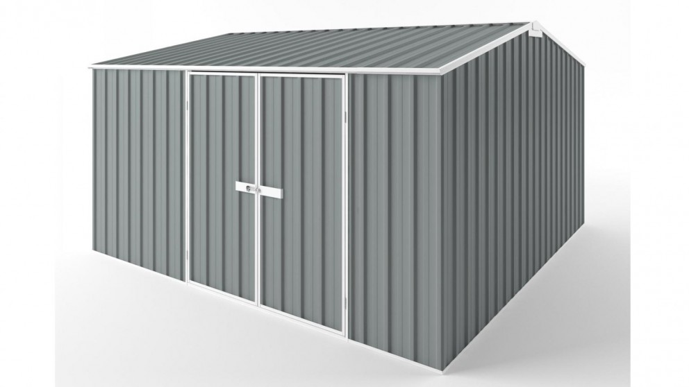 EasyShed D3838 Gable Roof Garden Shed - Armour Grey
