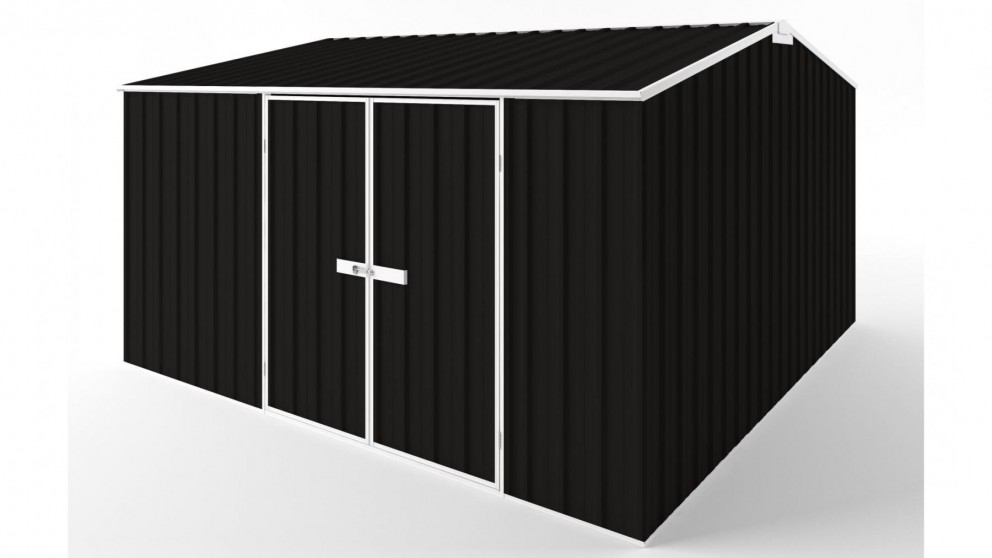 EasyShed D3838 Gable Roof Garden Shed - Ebony
