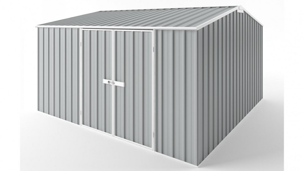 EasyShed D3838 Gable Roof Garden Shed - Gull Grey