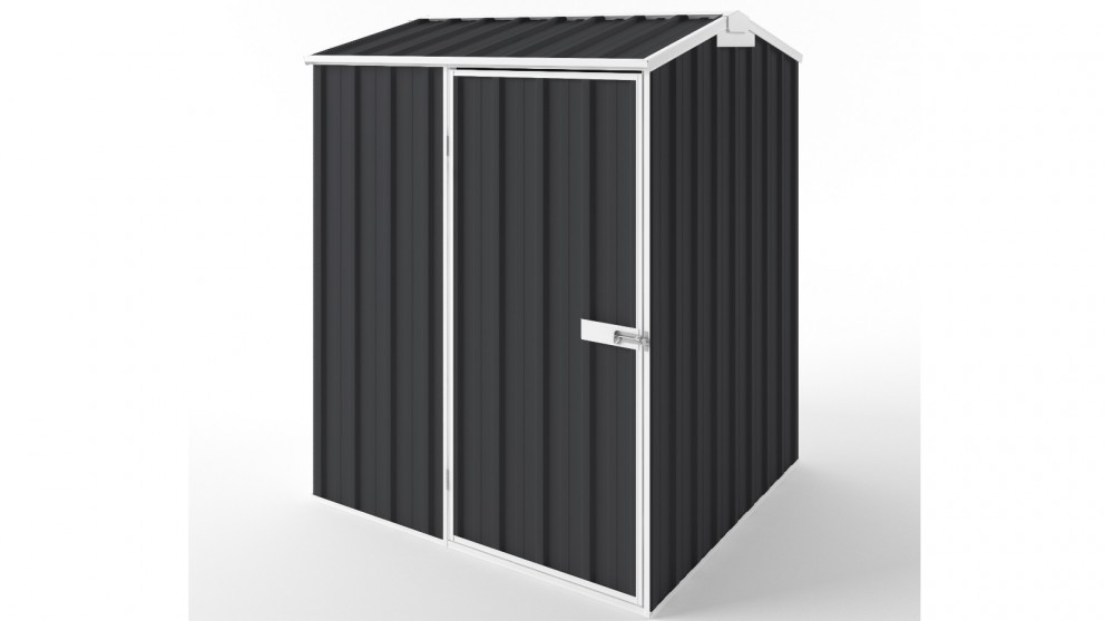 EasyShed S1515 Gable Roof Garden Shed - Iron Grey