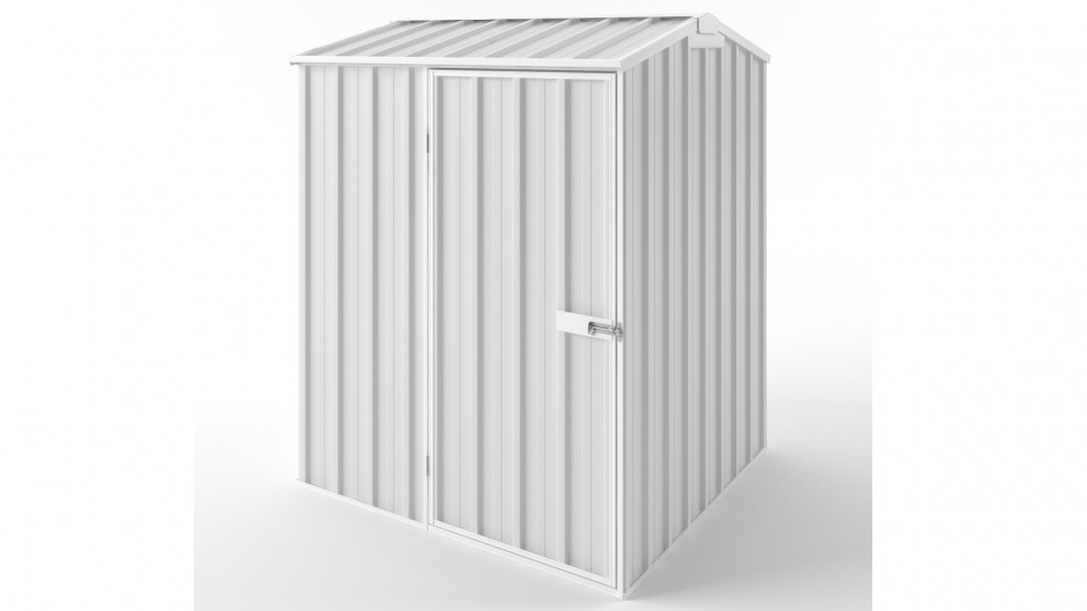 EasyShed S1515 Gable Roof Garden Shed - Off White