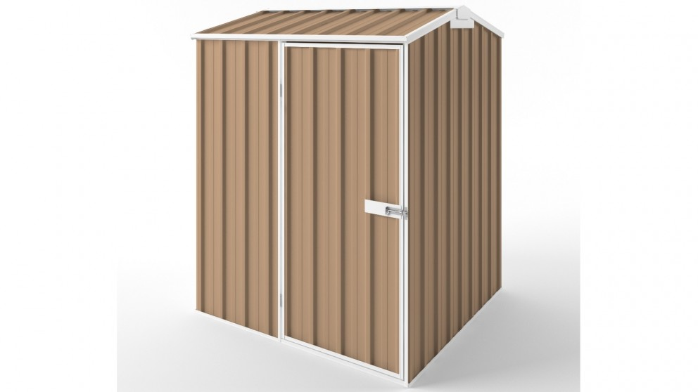 EasyShed S1515 Gable Roof Garden Shed - Pale Terracotta