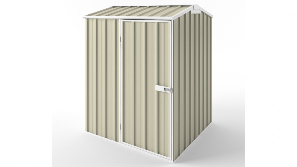 EasyShed S1515 Gable Roof Garden Shed - Smooth Cream