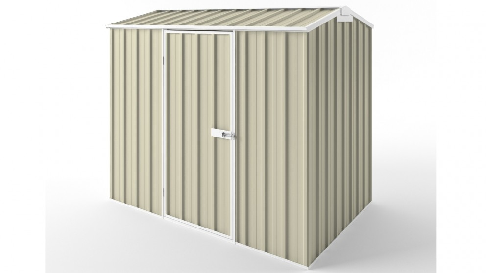 EasyShed S2315 Gable Roof Garden Shed - Smooth Cream