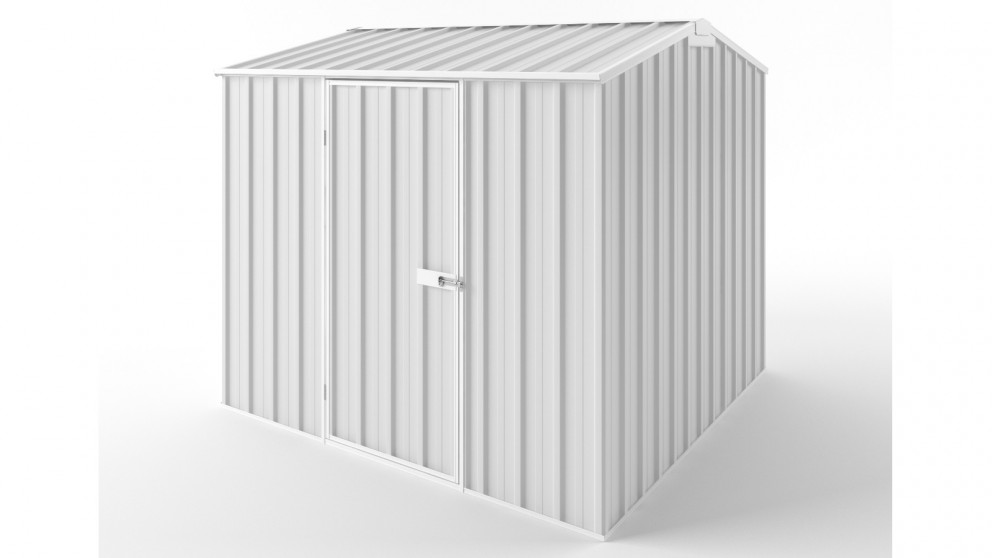 EasyShed S2323 Gable Roof Garden Shed - Off White