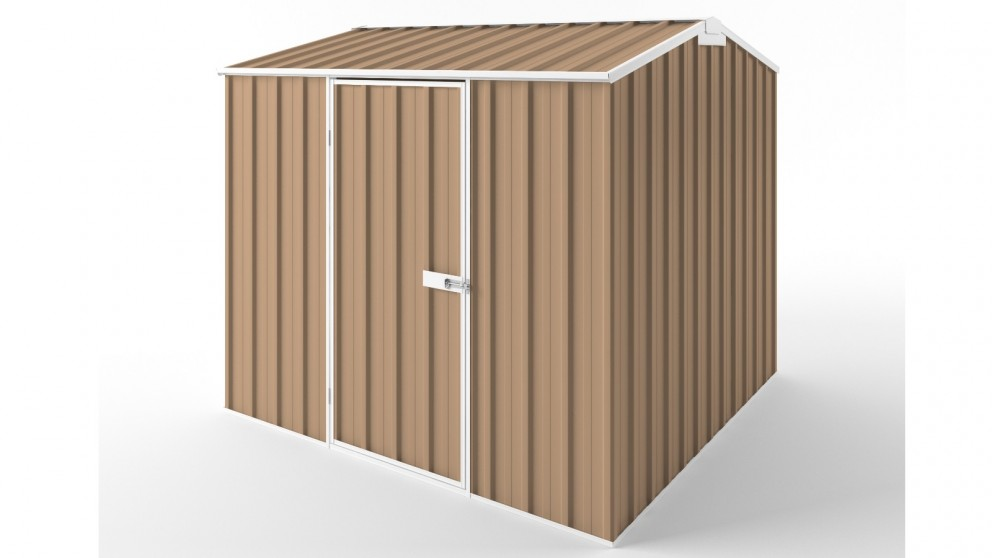 EasyShed S2323 Gable Roof Garden Shed - Pale Terracotta