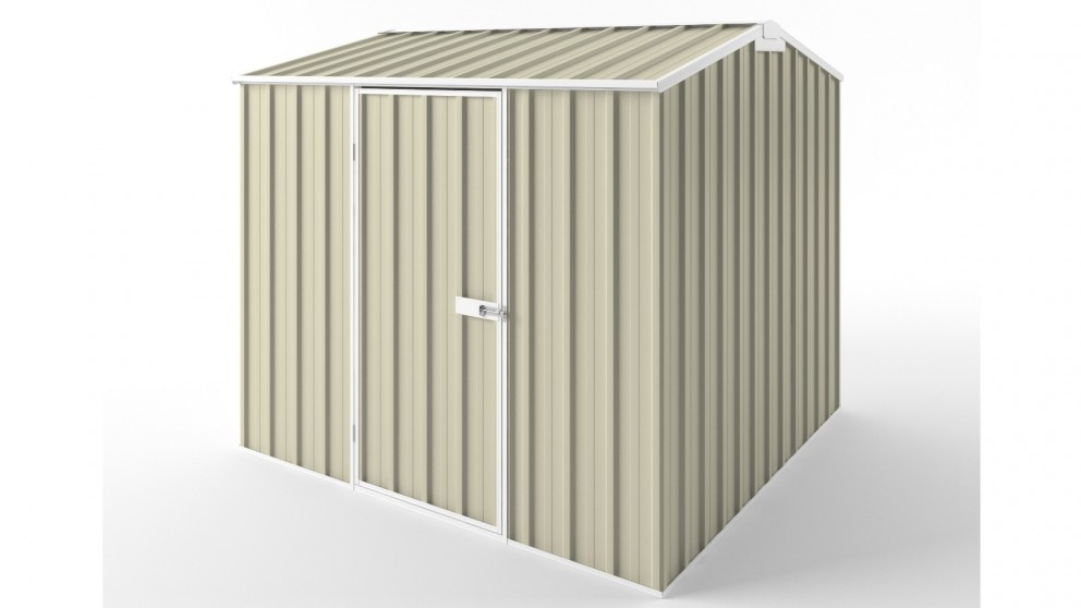 EasyShed S2323 Gable Roof Garden Shed - Smooth Cream